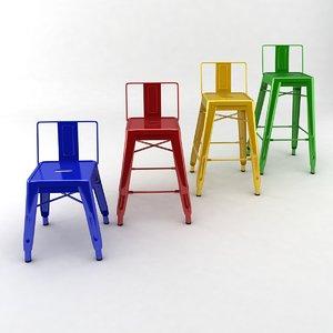 3d max metal stools