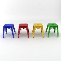 3d metal stool