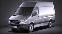 mercedes sprinter ii 3d model