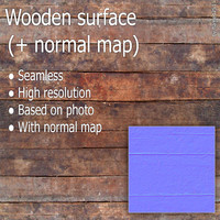 Wooden Surface (+ normal map)