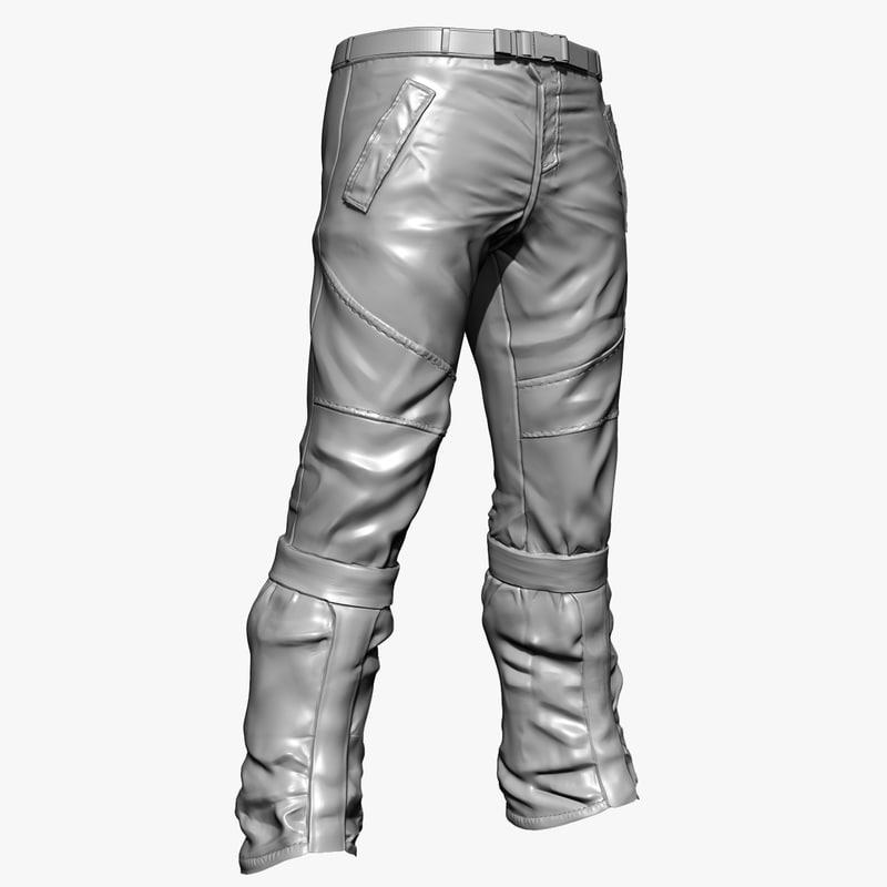 pants zbrush 3d 3ds