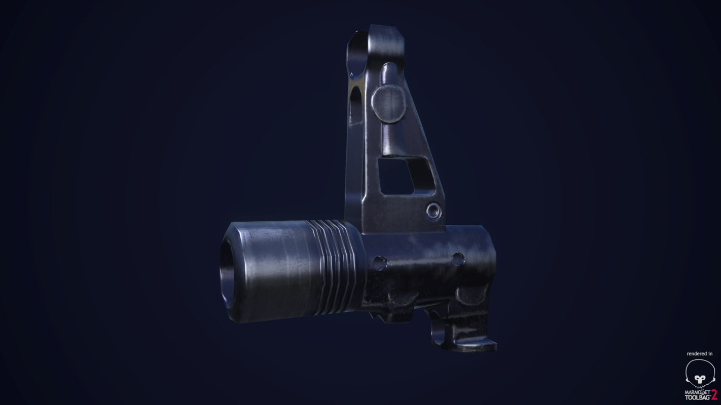 3d model of rifle sight