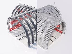 crossroad tunnel 3d max