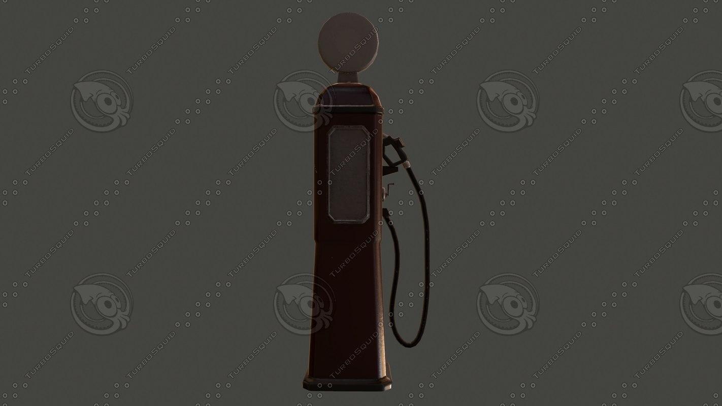 gas station obj