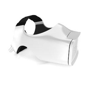 headset fove vr 3d model