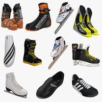 3d winter sports boots skates