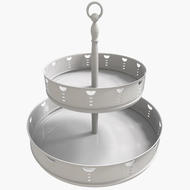 3d model dessert tray