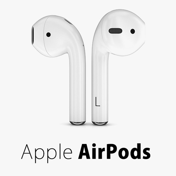 3d wireless apple airpods model