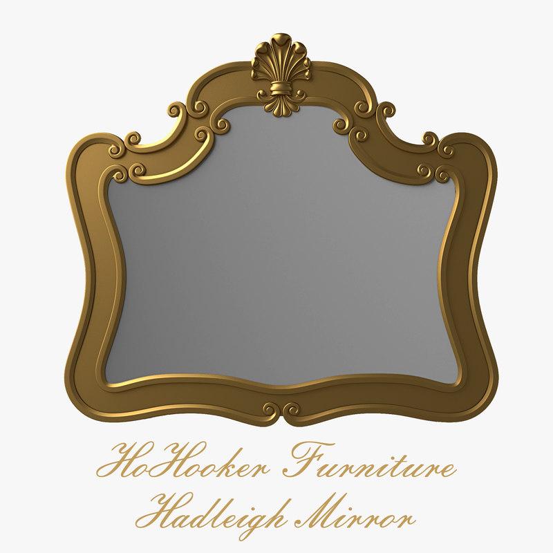 3d model hooker furniture hadleigh mirror