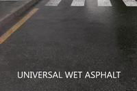 road universal wet asphalt 3d max