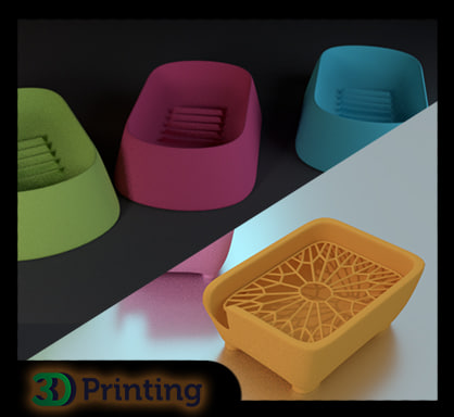 3d soap dishes model