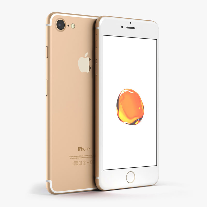 c4d apple iphone 7 gold