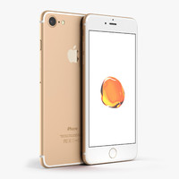 c4d apple iphone 7 gold