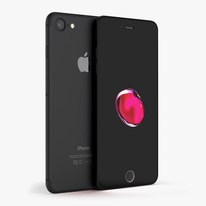 apple iphone 7 black obj