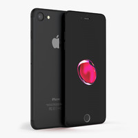 apple iphone 7 black obj