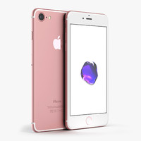 3d model apple iphone 7 rose