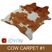 Kuhfell Teppich - Cow hide carpet Brown rug