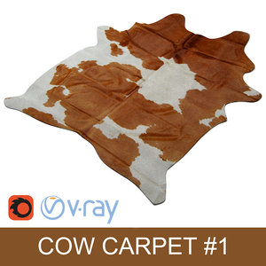 3d kuhfell teppich - cow