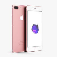 apple iphone 7 rose 3d obj