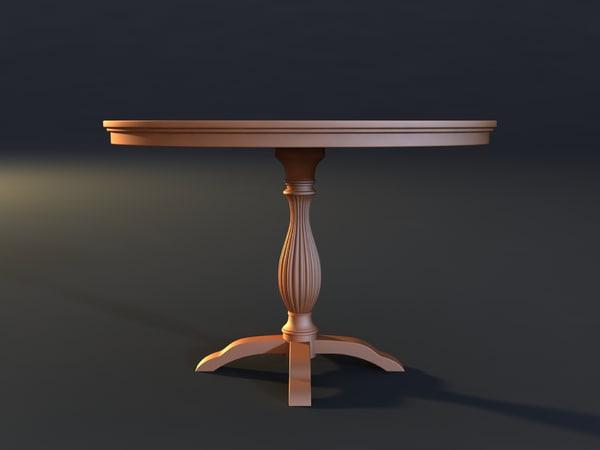 table mold print 3d model