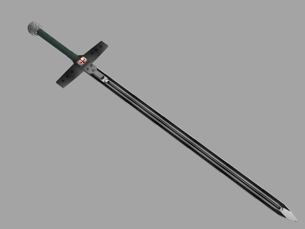 3d model sword righteous