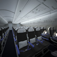airplane cabin interior 3d model