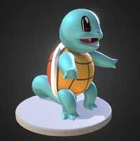 squirtle pokemon 3d model