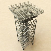 3d watchtower tower model