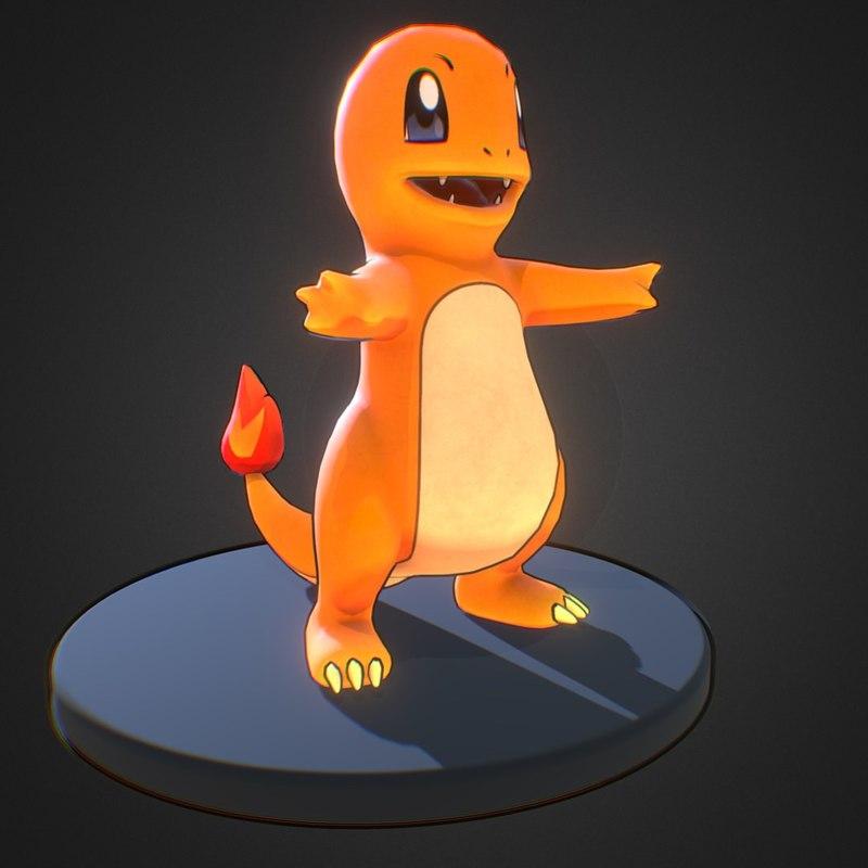 charmander pokemon 3d fbx