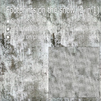 Footprints on the snow (2 in 1)