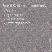 Gravel Road (with normal map)