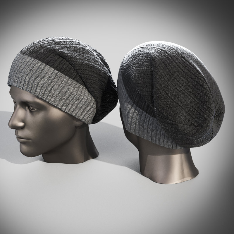 winter hat set 3d 3ds