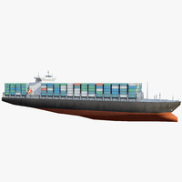 Low Poly Container Ship