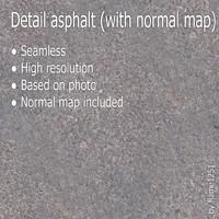 Detail asphalt (with normal map)