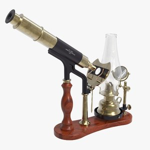 antique microscope 3d max
