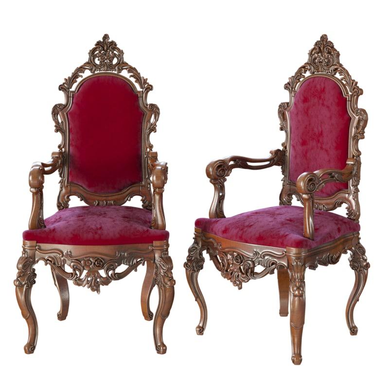 3d model of armchair classic