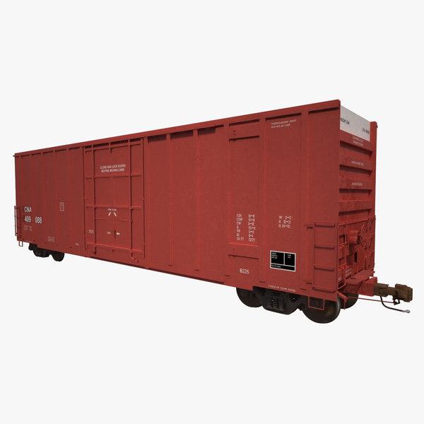 a405 boxcar rails cargo 3d model