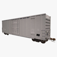 Railroad Boxcar 50ft CNA Grey