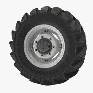 3d model truck wheel g