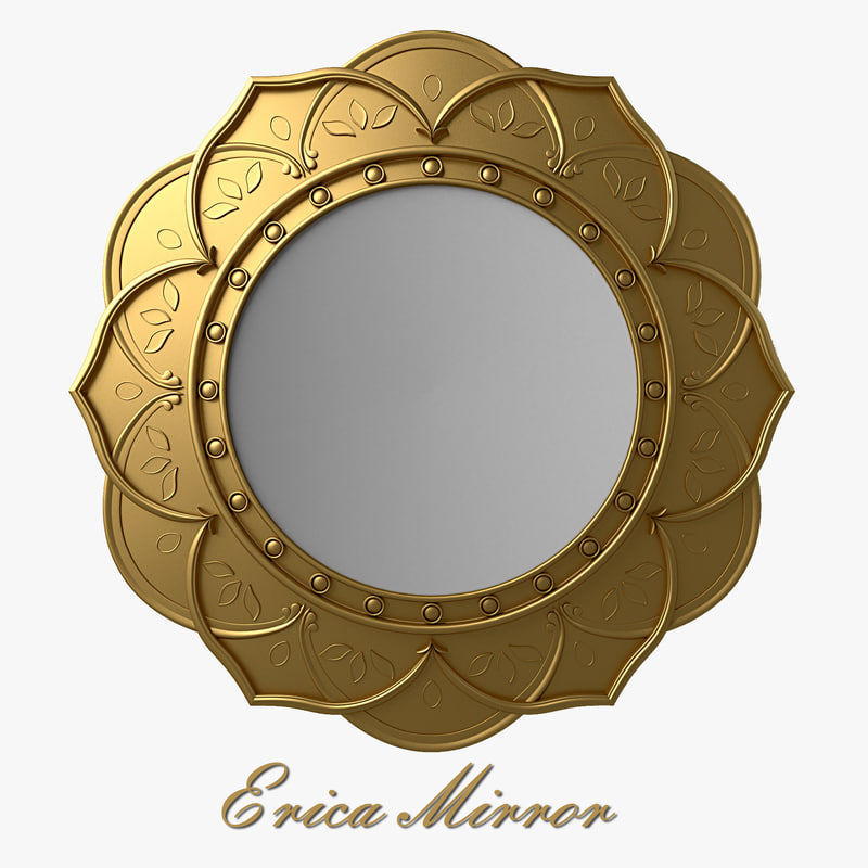 3d model howard elliottcollection erica mirror