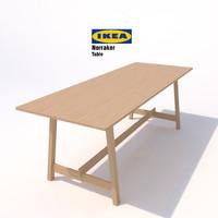 3d ikea norraker table model