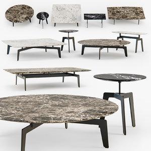 3d poliform tribeca coffee table model