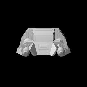 3d model snow speeder