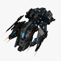 fi ship fighter 3d model