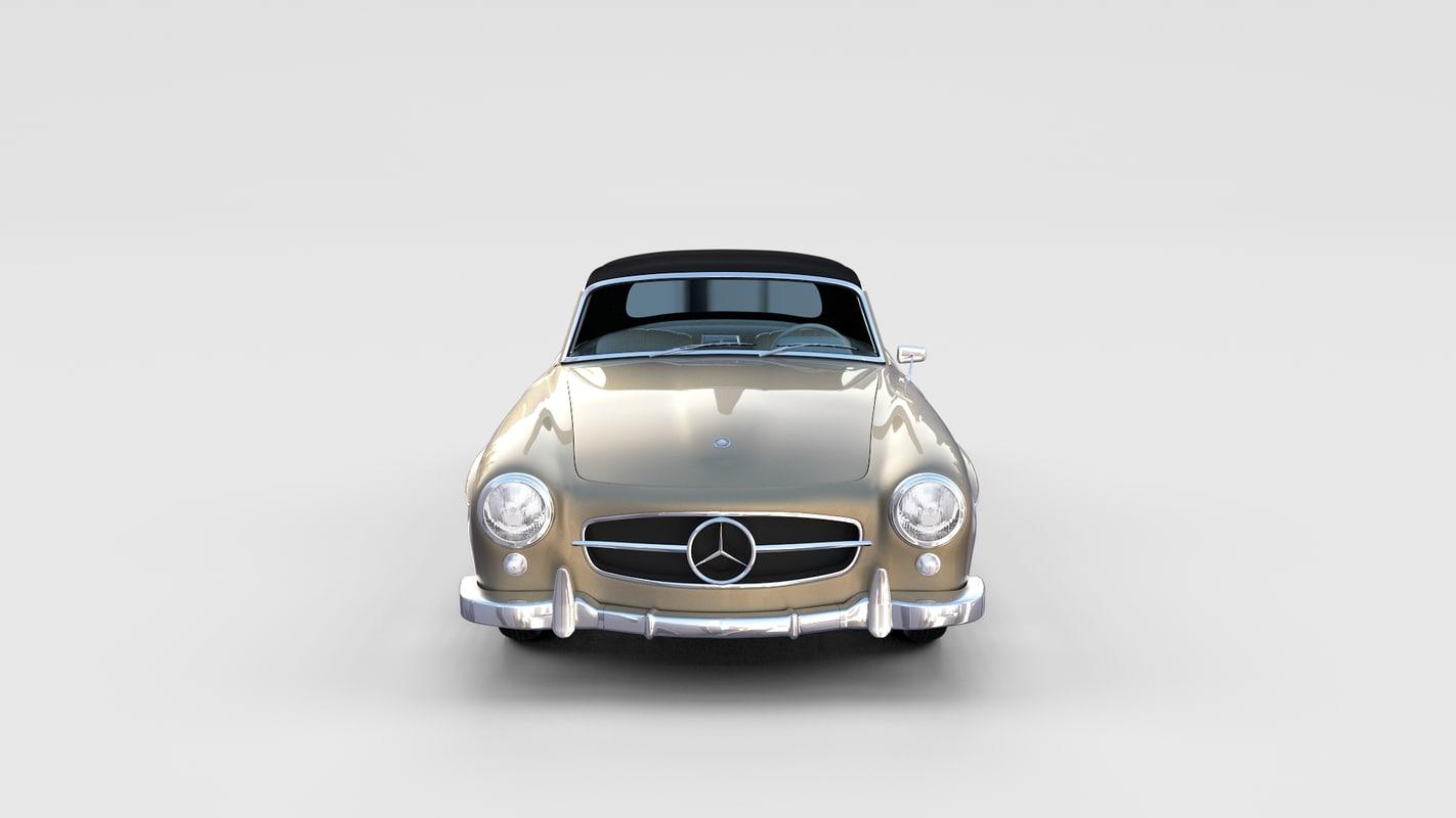 mercedes 190sl interior 3d obj
