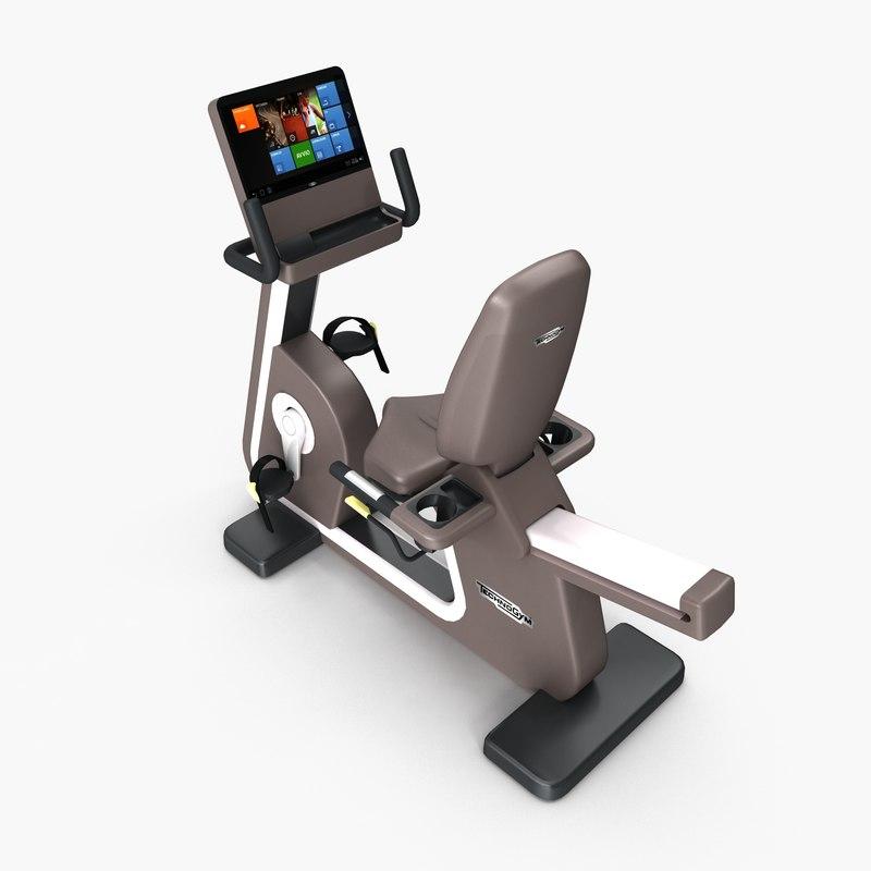 3d model of gym recline cardio artis