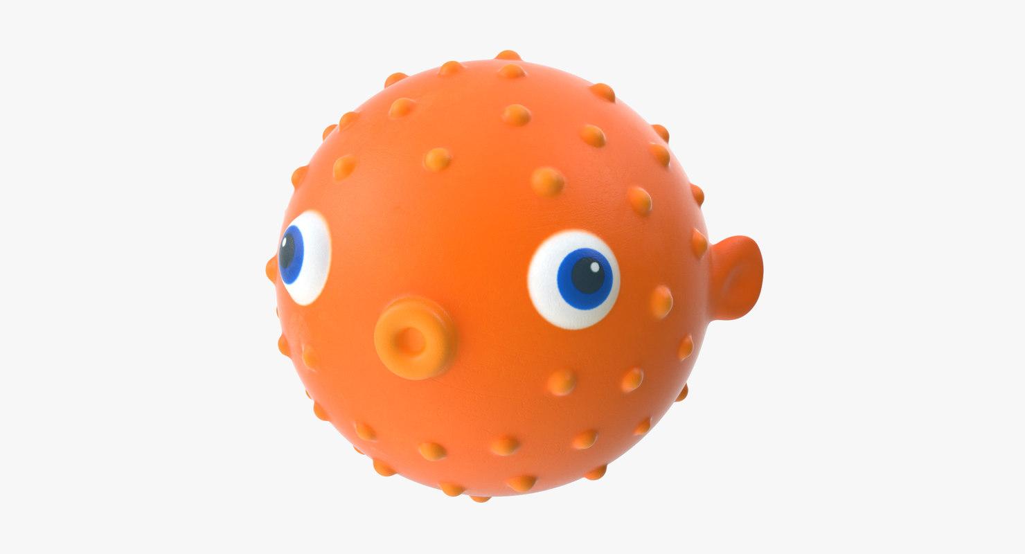 3d model of bath toy fish -