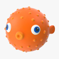 3d model of bath toy fish -