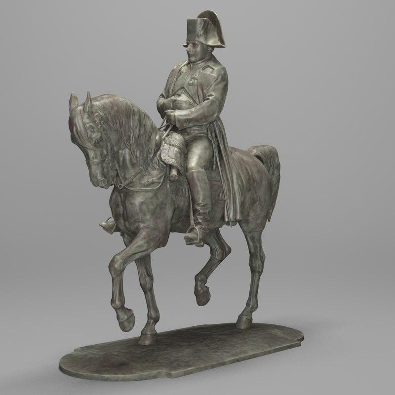 3d statue napoleon