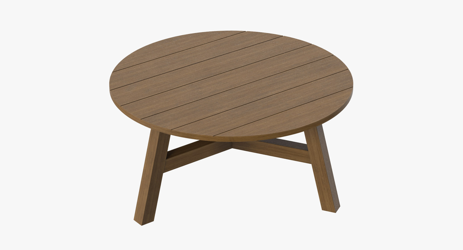 3d model patio coffee table 01
